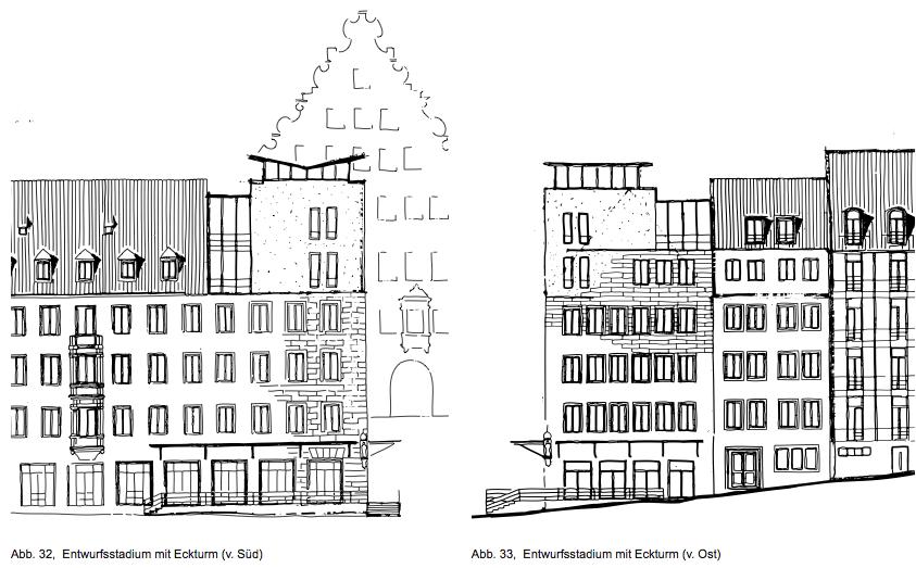 Entwurfsskizzen der Architekten