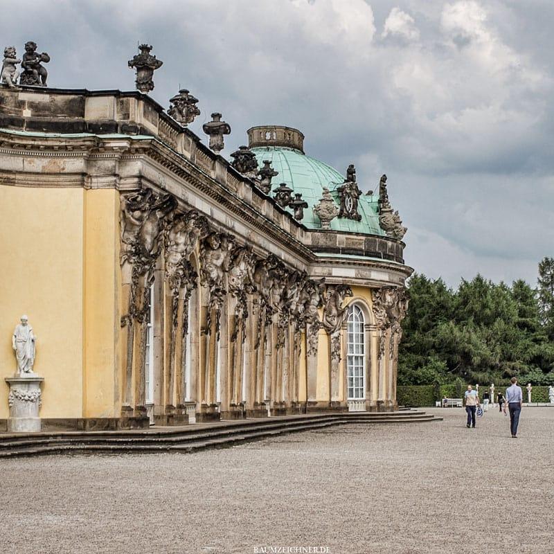 3 Bilder aus Potsdam Schloss Sanssouci