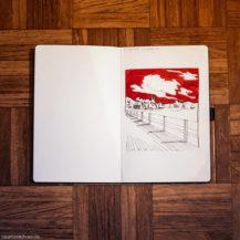 Skizze von Landschaft