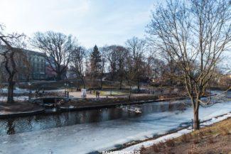 Esplanade Park in Riga, Lettland