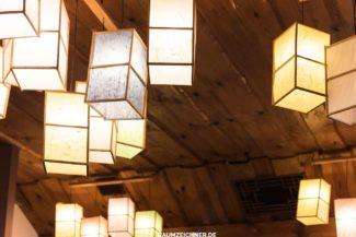 Papier Laternen in koreanischem Restaurant in Riga