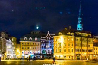 Riga Stattansicht bei Nacht 2015