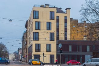 Moderne Fassade, Architektur, Riga, Lettland