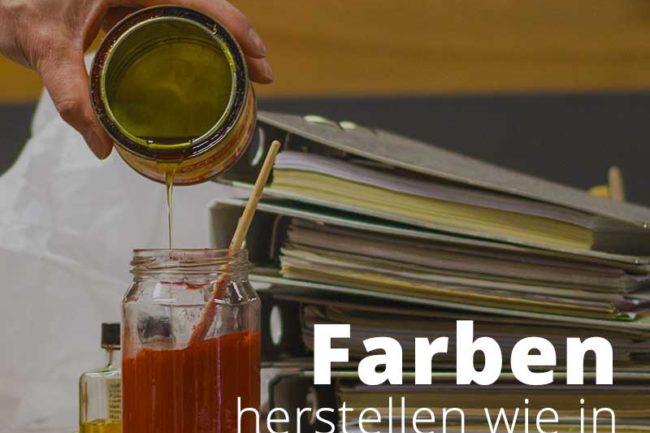 Historische Farbherstellung nach alten Rezepten.