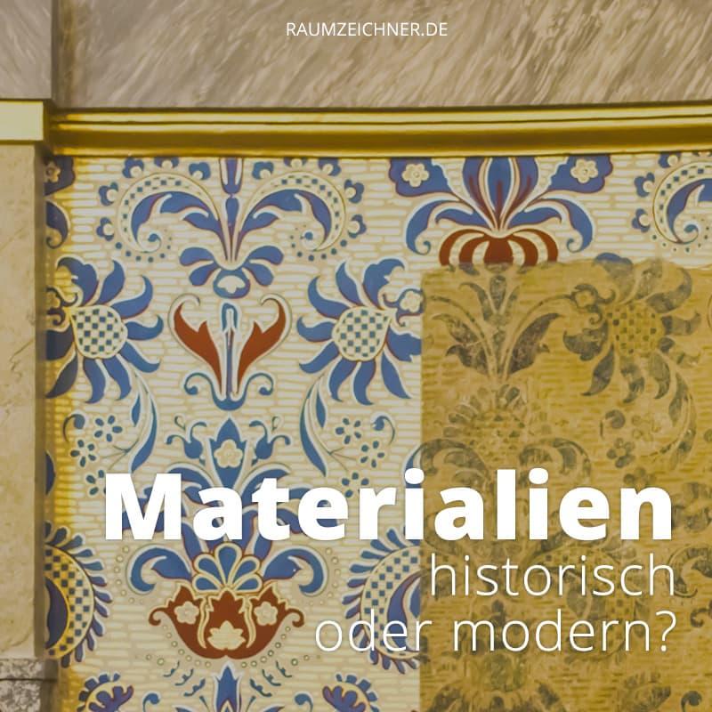 Manchmal sind die historischen originalen Materialien einfach nicht wirklich gut. Darf dann mit modernen Alternativen nachgebessert werden?